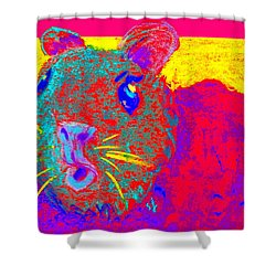 Funky Guinea Pig Shower Curtain