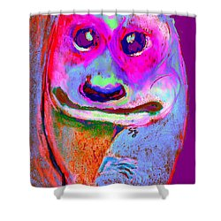 Funky Meerkat Tunnel Art Print Shower Curtain