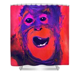 Funky Monkey Happy Chappy Shower Curtain