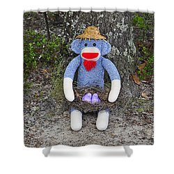 Funky Monkey - Purple Peeps Shower Curtain by Al Powell Photography USA