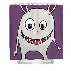 Funny Crazy Happy Monster Shower Curtain