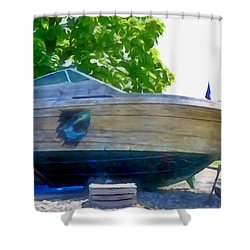 Funplex Funpark Boat 5 Shower Curtain by Lanjee Chee