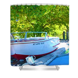 Funplex Funpark Boat 6 Shower Curtain by Lanjee Chee