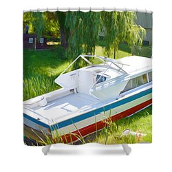Funplex Funpark Boat 8 Shower Curtain by Lanjee Chee
