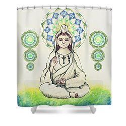 Fureai Quan Yin In Kyoto Shower Curtain