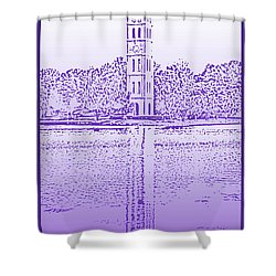 Furman Bell Tower Shower Curtain