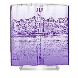 Furman Bell Tower Shower Curtain by Greg Joens