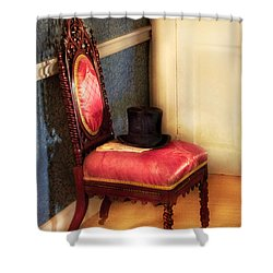 Furniture - Chair - Ready For The Ball Shower Curtain by Mike Savad