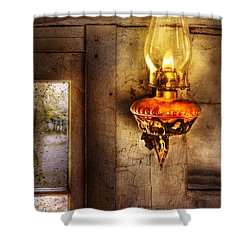 Furniture - Lamp - Kerosene Lamp Shower Curtain by Mike Savad