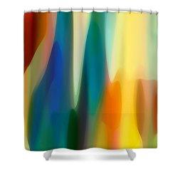 Fury 6 Shower Curtain by Amy Vangsgard