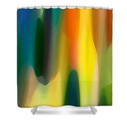 Fury Panoramic Vertical 1 Shower Curtain by Amy Vangsgard