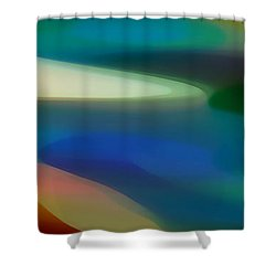 Fury Panoramic Vertical 3 Shower Curtain by Amy Vangsgard
