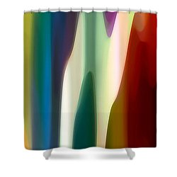 Fury Panoramic Vertical 4 Shower Curtain by Amy Vangsgard