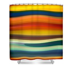 Fury Sea 1 Shower Curtain by Amy Vangsgard