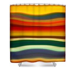 Fury Sea 2 Shower Curtain by Amy Vangsgard
