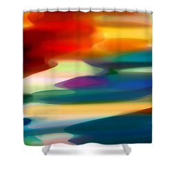 Fury Seascape Shower Curtain
