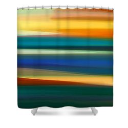 Fury Seascape Panoramic 1 Shower Curtain
