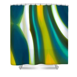 Abstract Tide 9 Shower Curtain