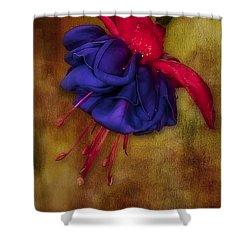 Fuschia Flower Shower Curtain by Susan Candelario