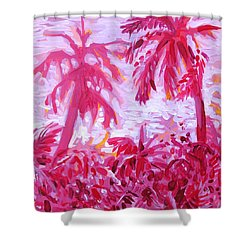 Fuschia Landscape Shower Curtain