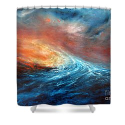 Fusion Shower Curtain by Valerie Travers