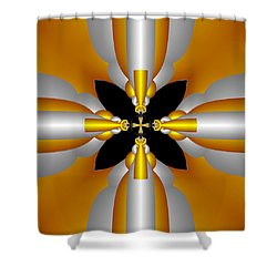 Futuristic Shower Curtain by Svetlana Nikolova