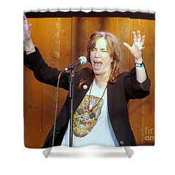 Shower Curtain featuring the photograph G-l-o-r-i-a by Ed Weidman