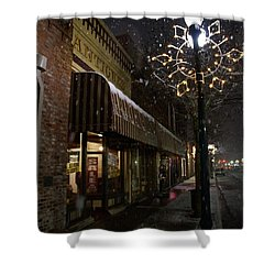 G Street Antique Store In The Snow Shower Curtain by Mick Anderson