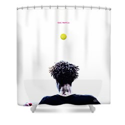 Gael Monfils Shower Curtain by Nishanth Gopinathan