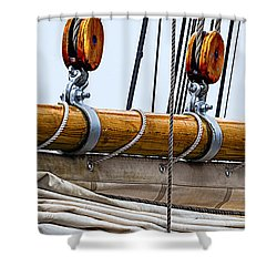 Shower Curtain featuring the photograph Gaff And Mainsail by Marty Saccone