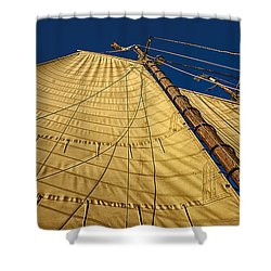 Gaff Rigged Mainsail Shower Curtain