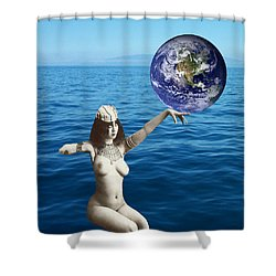Gaia Shower Curtain by Matthew Lacey