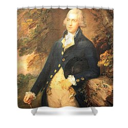 Gainsborough's Francis Bassat -- Lord De Dunstanville Shower Curtain by Cora Wandel