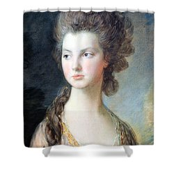 Gainsborough's The Hon. Mrs. Thomas Graham Up Close Shower Curtain by Cora Wandel
