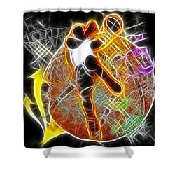 Galactic Dunk 2 Shower Curtain by David G Paul
