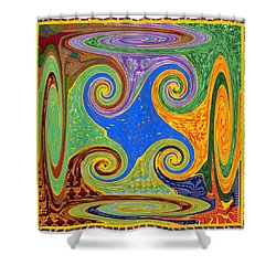 3d Twirl Galactic Invisible Teleport Station 2050 Alien Galaxy Communication Technology Startrack  Shower Curtain