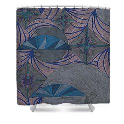 Shower Curtain featuring the drawing Galactic by Kim Sy Ok