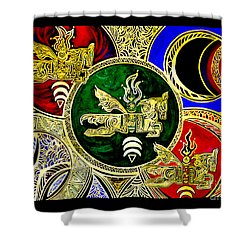 Galactic Windhorses Shower Curtain
