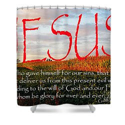 Galatians 1 Four To Five Shower Curtain