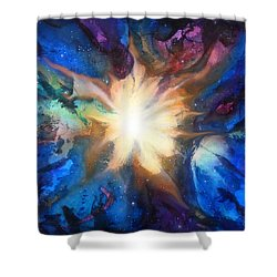 Flor Boreal Shower Curtain by Angel Ortiz