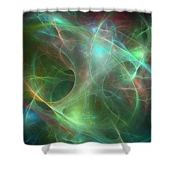 Galaxie Fractale -02 Shower Curtain by RochVanh