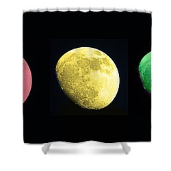 Galaxy Stop Light Shower Curtain by Tom Gari Gallery-Three-Photography