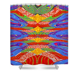 Galaxy Transit Union Ufo Docking Station Fantasy 2050 Art Background Designs  And Color Tones N Colo Shower Curtain