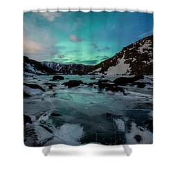Gale-force Aurora V Shower Curtain