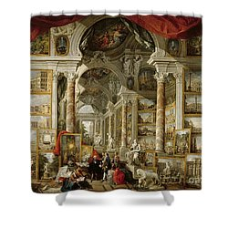 Gallery With Views Of Modern Rome Shower Curtain by Panini