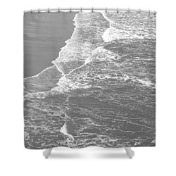 Galveston Tide In Grayscale Shower Curtain