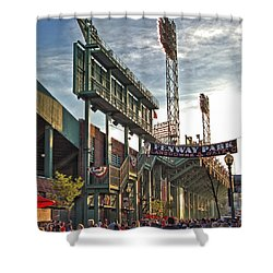 Game Day - Fenway Park Shower Curtain by Joann Vitali
