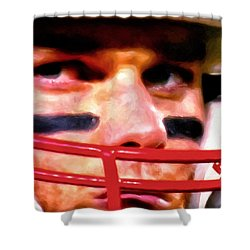 Game Face Shower Curtain by Michael Pickett