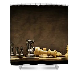 Game Over Shower Curtain by Don Hammond