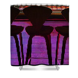 Shower Curtain featuring the photograph Game Table 2 by Tammy Espino